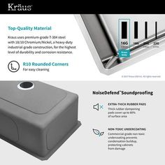 """Kraus Handmade Stainless Steel 16 Gauge 30"""" L x 18"""" W Undermount Kitchen Sink with Faucet 