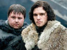 Samwell Tarly and Jon Snow aka John Bradley and Kit Harrington