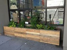 wooden planter boxes on wheels - Google Search