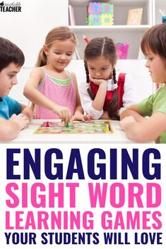 These fun sight word games are perfect for kindergarten or for first grade, second, and beyond. My students love these hands on board games and card games that cover both dolch and fry sight words! Kindergarten Reading, Teaching Reading, Guided Reading, Reading Fluency, Reading Skills, Teaching Sight Words, Teaching Phonics, Teaching Letters, Sight Word Flashcards