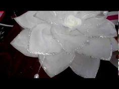 бант из лент канзаши,гильоширование - YouTube