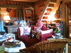 A photo of my dollhouse cottage living room