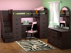 perfect for a small room to amp up some storage. put drawers in the steps and around the bed frame, genius | for the home