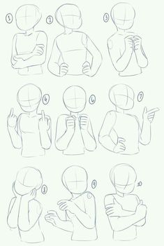 art reference poses A bunch of poses after the previous arms and torso tutorials! I didnt put any expressions in this since they can vary, and also its a more focused on drawing the characters body from the waist up. Wie Zeichnet Man Manga, Drawing Body Poses, Body Base Drawing, Female Drawing Base, Female Art, Posture Drawing, Drawing Body Proportions, Drawing Exercises, Female Faces