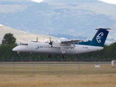 Air New Zealand Q300 landing at Christchurch  Type: De Havilland Canada DHC-8-311Q Dash 8 Registration: ZK-NED Location: Christchurch International Airport Date: 22/12/2013