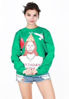 What fun it is to wear this Christmas print o-neck pullover style sweatshirt on new year's eve ! Available in 8 eye-catching different prints. Perfect gift idea for Christmas. Put a big smile on their