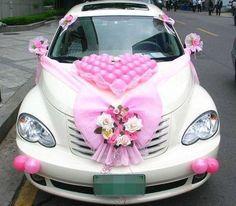 https://www.facebook.com/leovandesign #weddingcar#whitecar #heart #wedding #valentine