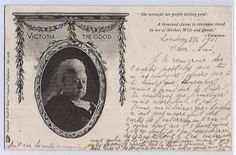 Queen Victoria's Death Card