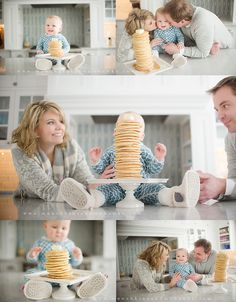 One year old family session Pancakes Lazy Sunday | Pittsburgh Child Portrait and Family Photographer