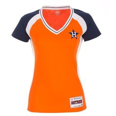 Majestic Women s Houston Astros Cooperstown Opal Synthetic Fashion T-shirt  Houston Astros Gear 92616097d
