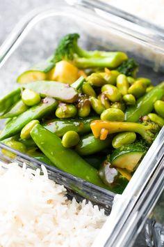Vegan Ginger Teriyaki Stir Fry (Meal Prep) | sweetpeasandsaffron.com