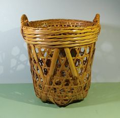 Bamboo Planter, Bamboo Basket, Wicker Baskets, Flower Crew, Wood Shoe Rack, Triangle Pillow, Bamboo Construction, Rustic Chic, Country Chic