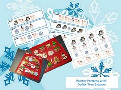 Winter Patterning Cards - -  Pinned by @PediaStaff – Please Visit http://ht.ly/63sNt for all our pediatric therapy pins