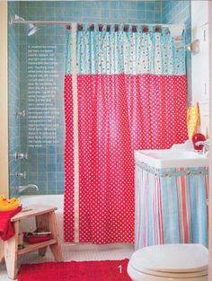 Creative Shower Curtain Ideas for Your Bathroom #Shower+Curtain #Bathroom
