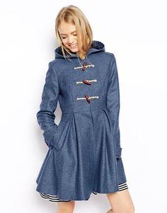 ASOS Duffle Coat With Swing Hem