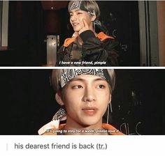Taehyung is such a cutie. I'm glad he's treating himself good