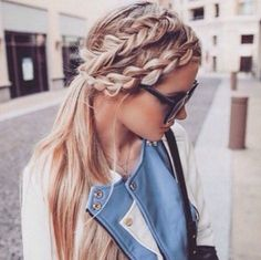 Double french braid ! Classy