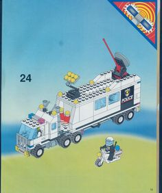 LEGO 6348 Police Surveillance Squad instructions displayed page by page to help you build this amazing LEGO Police set Police Police, Police Truck, Old Lego Sets, Modele Lego, Lego Design, Art Pics, Lego Instructions, Legos, Vintage Toys
