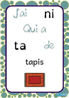 """Dans ma valise pédagogique: Rallye-lien """"J'ai...qui a... ?"""" - Lire des syllabes simples"""
