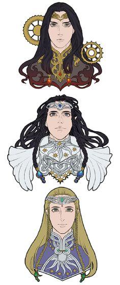 Feanor, Fingolfin and Finarfin