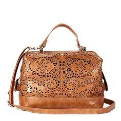 beautiful laser cut satchel