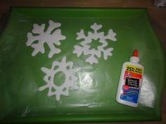glue snowflakes