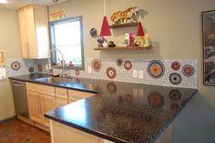 I could so see my kitchen with this backsplash.  credit: Casa Sugar [http://su-casa.casasugar.com/Kitchen-Transformation-Mosaic-Backsplash-5310675]