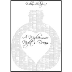 Spineless Classics A Midsummer Night's Dream - 50x70cm (£30) ❤ liked on Polyvore featuring home, home decor, wall art, quoting shakespeare poster, typography poster, paper wall art, shakespeare poster and quote posters