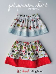 Fat Quarter Skirt PDF Pattern Release (with discount!) – Thread Riding Hood Fat Quarter Skirt PDF Pattern Release (with discount! Baby Girl Dress Patterns, Baby Clothes Patterns, Clothing Patterns, Little Girl Skirts, Skirts For Kids, Skirt Pattern Free, Skirt Patterns Sewing, Coat Patterns, Blouse Patterns