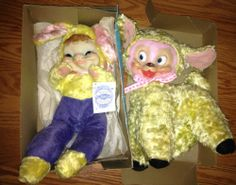 vintage Gund J. Swedlin stuffed rubber face Rushton free 1 bunny with box