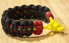 """Make paracord bracelets for boys in foster care and include with each a note. One example is this: """"Hello! I made you this paracord bracelet to let you know that you are never alone, and that God created you with a unique personality, abilities, and purpose! He is the source of all the strength you could ever need. Jesus loves you, and you are cared about!"""""""