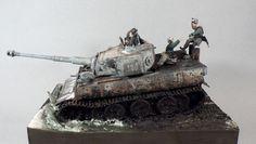Tiger 1 1/35 Scale Model Diorama