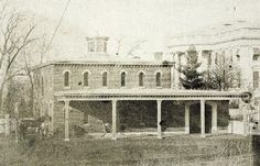 The White House stable - destroyed by fire on February 10, 1864