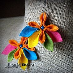 цветочные серьги из фетра_3