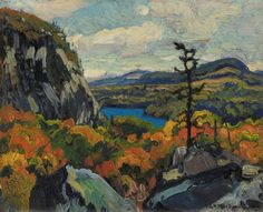 Early Autumn, Montreal River, Algoma by J. Group Of Seven Art, Group Of Seven Paintings, Great Paintings, Beautiful Paintings, Impressionist Landscape, Abstract Landscape, Landscape Paintings, Landscapes, Painting Abstract