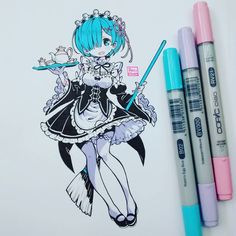 Rocío ̖́- gil на доске kawaii (・ェ-) + chibi ʚ(ू Copic Drawings, Anime Drawings Sketches, Anime Sketch, Manga Drawing, Manga Art, Cute Drawings, Copic Sketch, Arte Do Kawaii, Kawaii Art