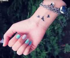 3 Tiny Birds Tattoo On Wrist