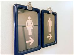 Ambidexerous Restroom Navigation Signs