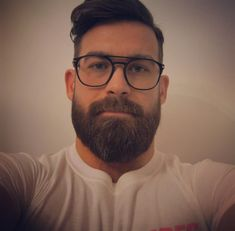 "3,976 Likes, 107 Comments - @beardedbenefit on Instagram: ""Finally got some new specs #nerdyandhairy #notamugshot"""