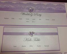 Seating Chart Wedding, Seating Charts, Jake Thomas, Kid Table, Kids Jordans, Stationary, Lilac, Lace Wedding, Wedding Invitations