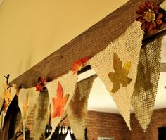 super cute bunting...use velcro for embellishments and it can be used year-round!