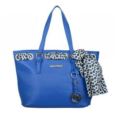 #MichaelKorsBags Michael Kors Jet Set Scarf Large Blue Totes combine rich materials with definitive comfort.