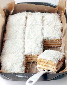 Raffaello cake – About Dessert World Polish Desserts, Polish Recipes, Cookie Desserts, Sweet Recipes, Cake Recipes, Dessert Recipes, Sweets Cake, Cupcake Cakes, Just Cakes