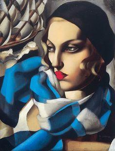 La sciarpa blu - Tamara de Lempicka, 1930