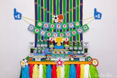 Sports Birthday Party Package Collection Set Mega by LeeLaaLoo