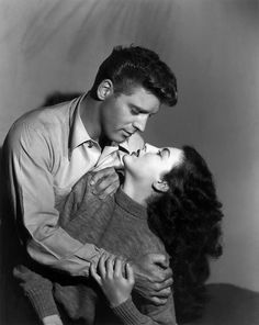 THE KILLERS (1946) - Burt Lancaster and Ava Gardner - Universal Pictures - Publicity still.