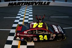"Martinsville mystique: Historic photos from the timeless track  By Kathy Sheldon and Maggie MacKenzie | Friday, March 31, 2017  2015: Jeff Gordon earned his final Monster Energy NASCAR Cup Series win at the short track; which locked him into the championship-determining race at Homestead-Miami Speedway. His ""We're going to Homestead"" chant warmed the hearts of the entire NASCAR community, perfectly capping off his legendary career.  Photo Credit: Getty Images  Photo: 12 / 12"