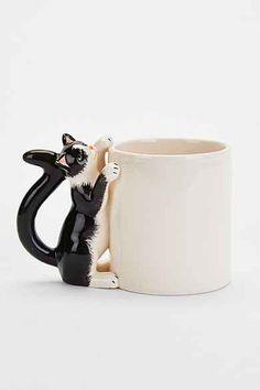 Plum & Bow Climbing Cat Mug