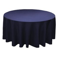 LINENS TCPY-120NV 120 Inch Round Polyester Navy Blue Tablecloth $10.42 each for 12