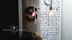 Industrial Republic Bottle Lamp www.industrialrepublic.etsy.com